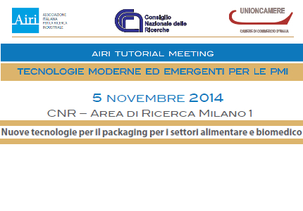 AIRI Tutorial Meeting per PMI. Nuove tecnologie per il packaging nei settori food e biomed
