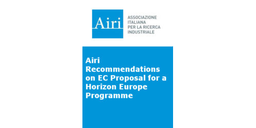 Airi Recommendations on EC Proposal for a Horizon Europe Programme