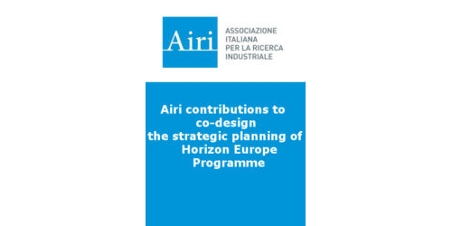 Airi contributions to co-design the strategic planning of Horizon Europe Programme