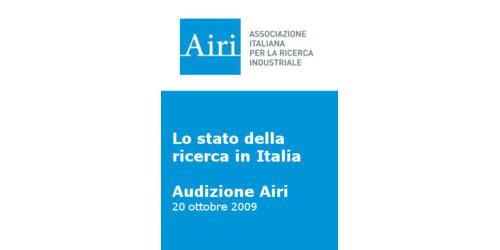Audizione Airi sullo stato della ricerca in Italia