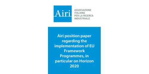 Airi position paper regarding the implementation of EU Framework Programmes, in particular on Horizon 2020