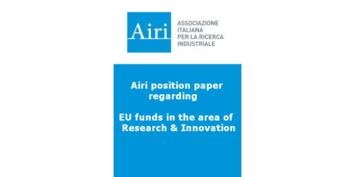Airi position paper regarding EU funds in the area of research & innovation