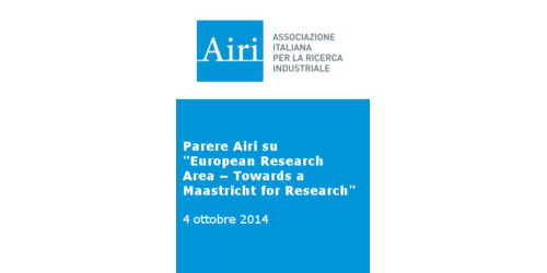"Parere Airi sul Documento ""EuropeanResearch Area - toward a Maastricht for research"""